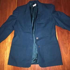 Blue size:12 TALBOTS jacket button up